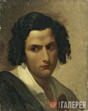 Sternberg Vasily. Head of a Young Italian. First half of the 1840s