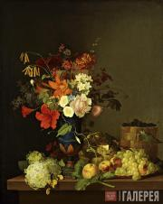 Foma TOROPOV. Still-life. Flowers and Fruits. 1846