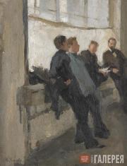 Ulyanov Nikolai. In Valentin Serov's Studio. The Window. 1900