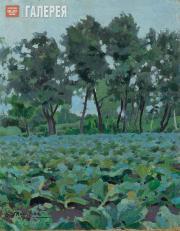 Borisov-Musatov Viktor. Cabbages and White Willows. 1894