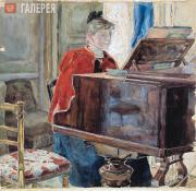 Якунчикова Мария. За роялем. 1880-е