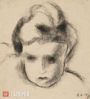 Chekrygin Vasily. Head of a Child. 1919
