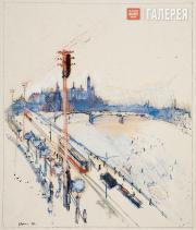 А.А. Лабас. Москворецкий мост. 1926