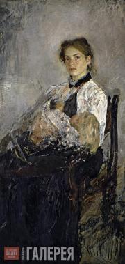 Serov Valentin. Portrait of Nadezhda von Derviz with Her Child. 1888-1889