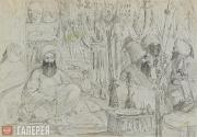 Scotti Mikhail. The Shop of a Weapon-vendor in Constantinople. c. 1845