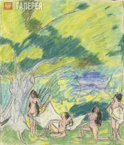 Lentulov Aristarkh. Female Bathers. 1910s