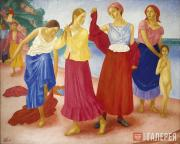 Petrov-Vodkin Kuzma. Young Girls on the Volga. 1915