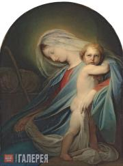 Bruni Fyodor. The Mother of God with the Infant, Resting on the Flight into Egyp