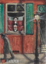 Dobuzhinsky Mstislav. Barbershop Window. 1906
