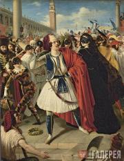 Scotti Mikhail. At the Carnival in Venice. 1839