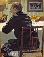 Kustodiev Boris. Portrait of Léon Bakst. 1910