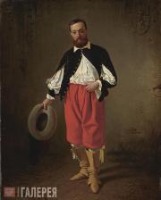 Scotti Mikhail. Portrait of M.P. Bibikov in a 17th-century Masquerade Costume. 1