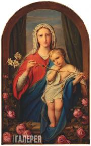 Bruni Fyodor. The Mother of God with the Infant in Roses. 1843
