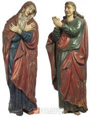 Неизвестный художник. Богоматерь и Иоанн Богослов, предстоящие Распятию. XVIII в
