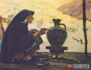 Tsigal Viktor. Female Potter from the Balkhari village