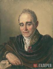 И.В.БУГАЕВСКИЙ-БЛАГОДАРНЫЙ.  Портрет В.Л. Боровиковского. 1825