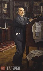 Serov Valentin. Portrait of Alexander Serov. 1889