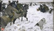 Serov Valentin. Peter I Hunting with Hounds. 1902