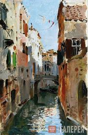 Levitan Isaaс. Canal in Venice. 1890