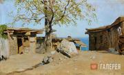 Levitan Isaaс. Small Yard in Yalta. 1886