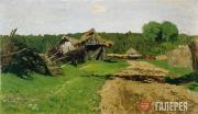 Levitan Isaaс. Entry Road to a Village. 1884