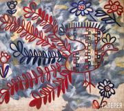 Goncharova Natalia. Peacock (Russian Embroidery Pattern)