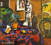 Goncharova Natalia. Still-Life With Pineapple. 1909