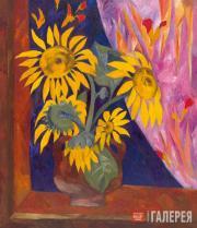 Goncharova Natalia. Sunflowers. 1910