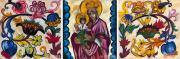 Goncharova Natalia. Virgin Mary (with ornamental motif). 1911
