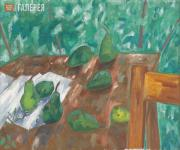 Larionov Mikhail. Still-life with Green Pears. 1910-1911
