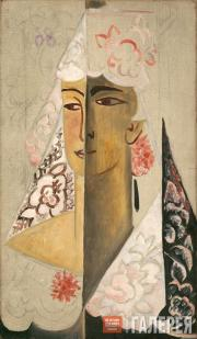 Goncharova Natalia. Head of a Spanish Woman. 1918-1922