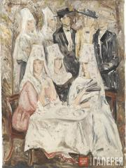 Goncharova Natalia. Breakfast. Spain. 1925-1926