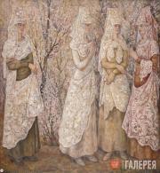 Goncharova Natalia. Spring. Spanish Women in White. 1932