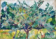Goncharova Natalia. Orchard. 1908-1909