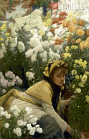 James TISSOT. Chrysanthemums. c. 1874-1876