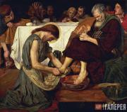 Форд Мэдокс Браун. Иисус, омывающий ноги Петру. 1852–1856
