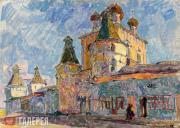 В. ЗАБЕЛИН. Борисоглебский кремль. 1986