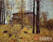Levitan Isaaс. Autumn. Estate. (Autumn. Dacha). 1894