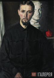 Chernyshev Nikolai. Self-portrait with a Venus. 1933