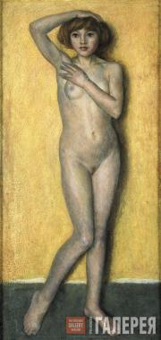 Chernyshev Nikolai. Model Against a Yellow Background. 1924