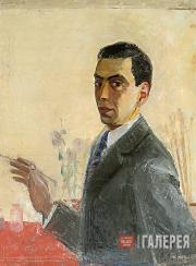 Автопортрет с кистью. 1936