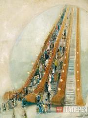 А.А.ЛАБАС.  Метро. 1935