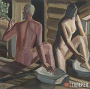 Andronov Nikolai. Bath-house. 1983