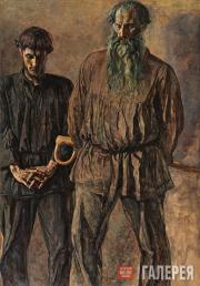 Korin Pavel. Father and Son (Sergei and Stepan Churakov). 1931