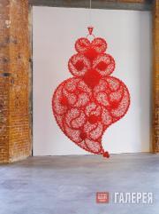 Хоана Васконселуш. Независимое сердце (красное) № 3. 2008