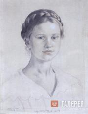 Kustodiev Boris. Portrait of the Artist's Daughter Irina Kustodieva. 1919