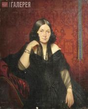 Scotti Mikhail. Portrait of an Unknown Lady in Black (E.A. Karlgoff?). 1842