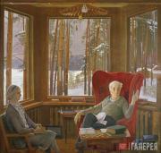 Портрет А.А. и П.Л. Капицы. 1979