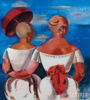 Jekabs KAZAKS. Ladies on the Beach. 1920
