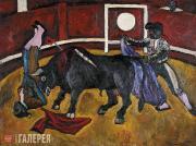 Konchalovsky Pyotr. Bull Fighting. 1910